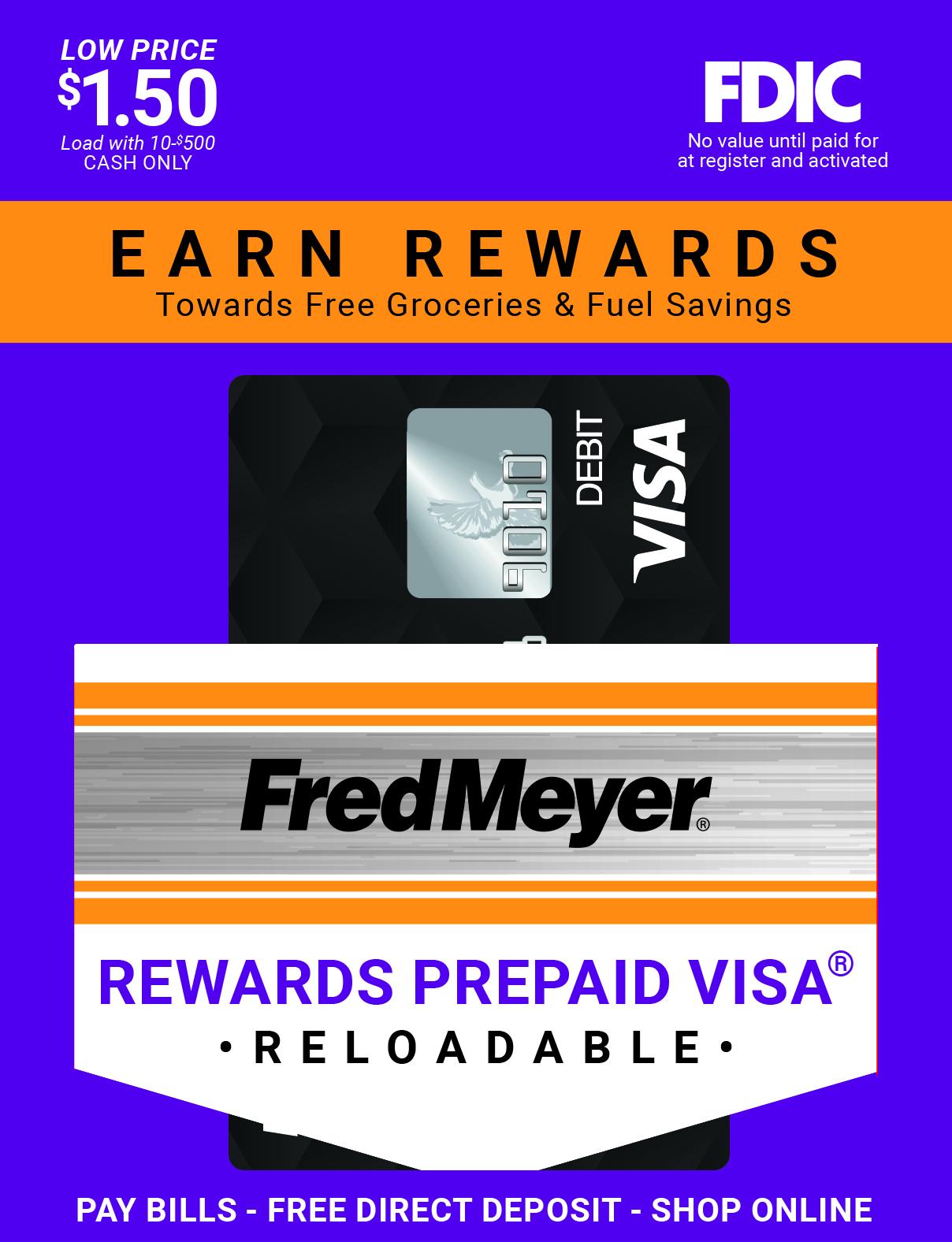 Reloadable Prepaid Debit Card | Fred Meyer Prepaid Debit Card
