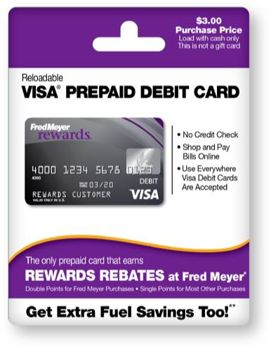 temporary card - Prepaid Rewards Card